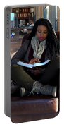 Reading In Starbucks Portable Battery Charger