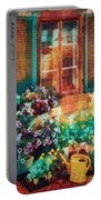 Ready To Water The Garden Oil Painting Portable Battery Charger