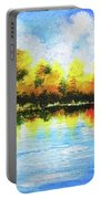 Realm Of Serene- Original Painting Portable Battery Charger