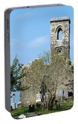 Rear View Fuerty Church And Cemetery Roscommon Ireland Portable Battery Charger