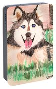 Rebel The Husky  Portable Battery Charger