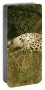 Reclining Cheetah Profile Portable Battery Charger