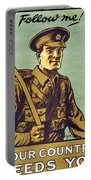 Recruitment Poster Follow Me Your Country Needs You Portable Battery Charger