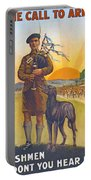 Recruitment Poster The Call To Arms Irishmen Dont You Hear It Portable Battery Charger