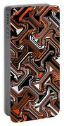 Recurring Pattern Abstract Portable Battery Charger