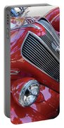 Red 1938 Plymouth Portable Battery Charger