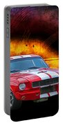 Red 1966 Mustang Fastback Portable Battery Charger