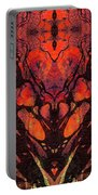 Red Abstract Art - Heart Matters - Sharon Cummings Portable Battery Charger