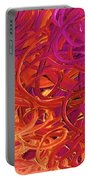 Red Abstract Portable Battery Charger
