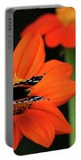 Red Admiral Nectaring On Tithonia Portable Battery Charger
