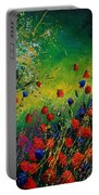 Red And Blue Poppies 67 1524 Portable Battery Charger