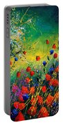 Red And Blue Poppies  Portable Battery Charger