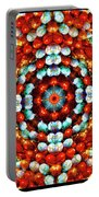 Red And Blue Stones Portable Battery Charger