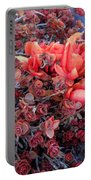 Red And Burgundy Succulent Plants Portable Battery Charger