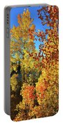 Red And Golden Aspens In Dillon Co Portable Battery Charger