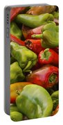 Red And Green Peppers Portable Battery Charger