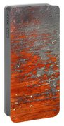 Red And Grey Abstract Portable Battery Charger