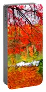 Red And Orange Portable Battery Charger