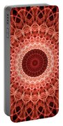 Red And Orange Mandala Portable Battery Charger