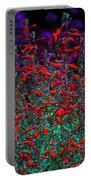 Red And Purple Flowers Portable Battery Charger