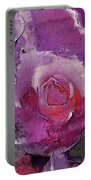 Red And Violet Roses Portable Battery Charger