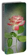Red And White Rose5 Cutout Portable Battery Charger