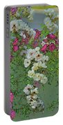 Red And White Roses Bright Toned Abstract Portable Battery Charger