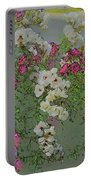 Red And White Roses  Medium Toned Abstract Portable Battery Charger