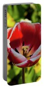 Red And White Tulip Portable Battery Charger