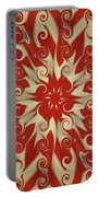 Red And White  Portable Battery Charger