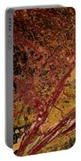 Red And Yellow Abstract Portable Battery Charger