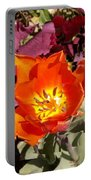 Red And Yellow Flower Portable Battery Charger