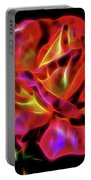 Red And Yellow Rose Fractal Portable Battery Charger
