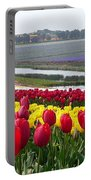 Red And Yellow Tulip Fields Portable Battery Charger