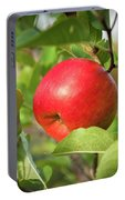 Red Apple On A Tree Portable Battery Charger