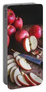 Red Apple Slices Portable Battery Charger