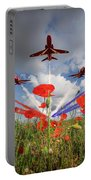 Red Arrows Poppy Fly Past Portable Battery Charger