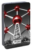 Red Atomium Portable Battery Charger