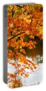 Red Autumn Leaves 2 Portable Battery Charger