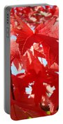 Red Autumn Leaves Art Prints Canvas Fall Leaves Baslee Troutman Portable Battery Charger
