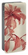 Red Autumnal Leaves Portable Battery Charger