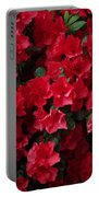Red Azalea Blooms Portable Battery Charger