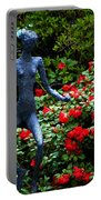 Red Azalea Lady Portable Battery Charger