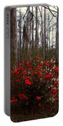 Red Azaleas In The Swamp Portable Battery Charger