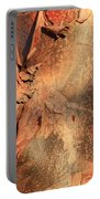 Red Bark Nature Abstract Portable Battery Charger