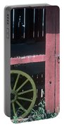 Red Barn And Wagon Wheel Portable Battery Charger