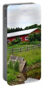 Red Barn By The Lake Portable Battery Charger