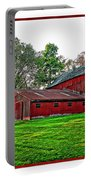 Red Barn In Ohio Portable Battery Charger