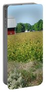 Red Barn In Pasture Portable Battery Charger