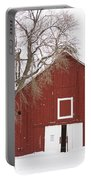 Red Barn Winter Country Landscape Portable Battery Charger by James BO  Insogna